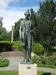 Prins Gustaf, staty av Carl Eldh i Rottneros.