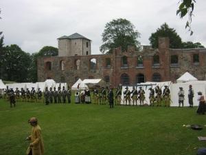Lineartaktik på Gräfsnäs: alla soldater skulle stå på rakt led.