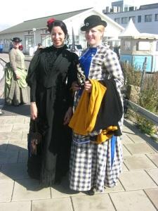 Sophie Elkan och Selma Lagerlöf fanns också på plats under sekelskiftesdagarna. Foto: Lars Gahrn.