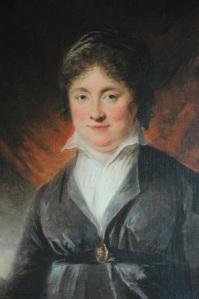 Christina Hall omkring 1807 enligt en oljemålning av Carl Fredrik von Breda. Foto: Anna Jolfors.