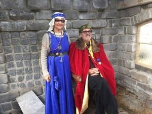 Konungen och drottningen av Stenrikeborg.