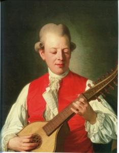 Carl Michael Bellman besökte aldrig Göteborg men var inte mindre ett stort namn i Götastaden. Målning av Per Krafft den äldre.