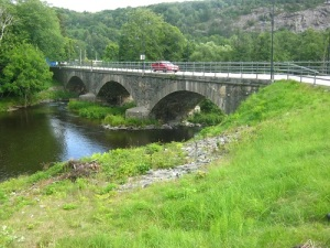 Kvistrums bro – en mycket vacker och välbyggd stenvalvsbro. Foto: Lars Gahrn.
