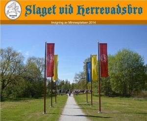 Affisch till invigningen av minnesplatsen.