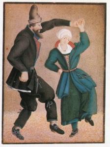 Axel Sparre i allmogedräkt. Målning av Axel Sparre, utförd mot slutet av 1600-talet.