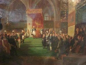 Tsar Alexander och lantdagens riksdagsmän, samlade i domkyrkan.