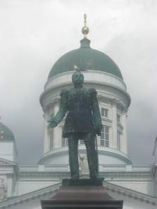 Tsar Alexander II på Senatstorget i Helsingfors.
