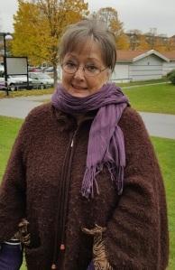 Ulla Enalid Thomsen minns bland annat sin ungdoms julmat. Hon ger oss en ingående skildring av julfirande i början av 1960-talet. Foto: Monika Utbult.