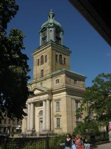 Domkyrkotornet har två sidoaltaner, från vilka tornmusik skulle spelas. Foto: Lars Gahrn.