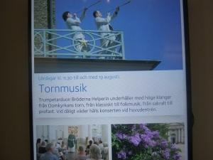 Bröderna Helperin spelar från domkyrkotornet. Affischbild.
