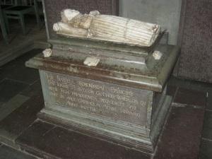 Gravvård i Strängnäs domkyrka för prinsessan Isabella, död 1566.
