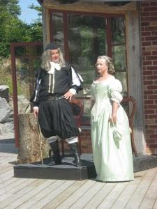 Harald Stake och hans kära maka bjöd på utmärkt och rolig teater.