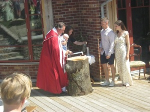 Det högtidliga dopet.