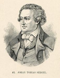 Den kände bildhuggaren Johan Tobias Sergel var den mest uppskattande av Christina Halls gäster.