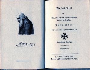 Cederborghs skrift kom tidigt och fick mycket stor betydelse för bilden av John Hall den yngre.