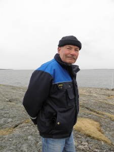 Lou Schmitt vid stranden av Kattegatt.