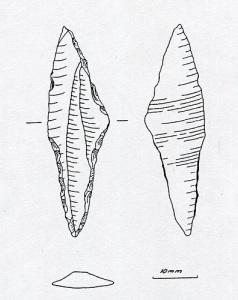 Pilspetsen från Kållered. Teckning, utförd av Anette Olsson.