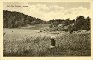 De två vykorten har i minst åttio år förbryllat vykortsamlare. De visar Delsjön och inte Stensjön. Bilder i Mölndals Hembygdsförenings fotosamling.