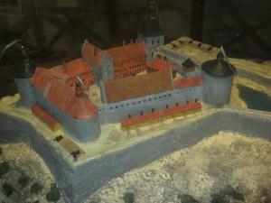 Ungefär så här såg fästningen ut under sin storhetstid på 1600-talet (enligt en modell i fästningens utställningsdel). Foto: Lars Gahrn.