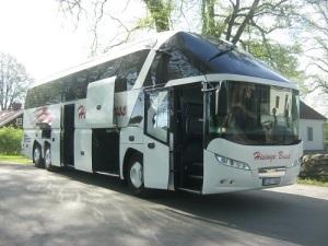 Stralsund nästa! Hisinge Buss skall ta musikerna till den gamla svenskstaden Stralsund i Tyskland.