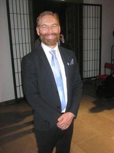 Jerker Johansson, slagverkare, tonsättare och dirigent. Foto: Lars Gahrn
