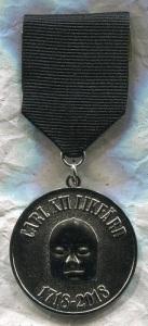 Deltagarna fick en vacker medalj med svart band.
