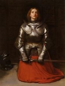Jeanne d'Arc – enligt en sentida historiemålning.